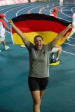 Die Goldmedaillengewinnerin im Diskuswerfen Kristin Prudenz / Foto: adh/Arndt Falter
