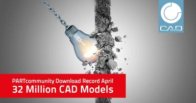 New record of 32 million CAD downloads beats PARTcommunity's record from the previous month