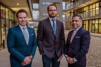 Die Geschäfsführer der Link11 GmbH (v.l.n.r.): Jens-Philipp Jung, Karsten Desler und Marc Wilczek