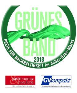 GRÜNES BAND 2018 der Fachzeitschriften gastronomie & hotellerie und GVkompakt