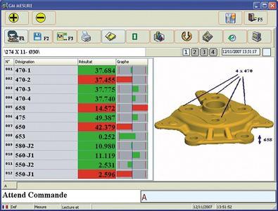 """Schnelle Auswertung von Längenmessungen: Screenshot der Software """"Millimar D1200X""""."""