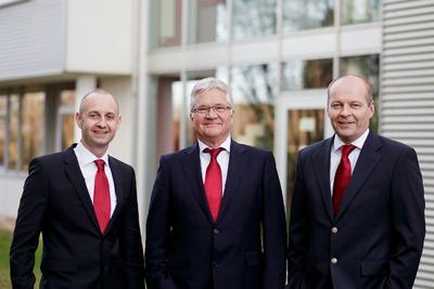 Drei Geschäftsführer: Dirk Nerling, Wolfgang Schulz und Gregor Lietz (v.l.n.r.)