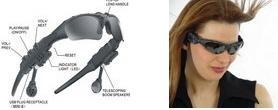 Sonnenbrille mit MP3-Player
