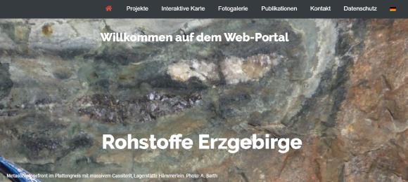 Neues Portal www.rohstoffe-erzgebirge.de ist online