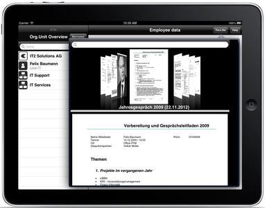 CoverFlow für die Aktenansicht in der eAkte-App von IT2™ Solutions