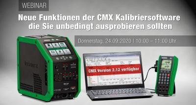 """Beamex Webinar zum Thema """"Neue Funktionen der CMX Kalibriersoftware die Sie unbedingt ausprobieren sollten"""" am 24. September 2020"""