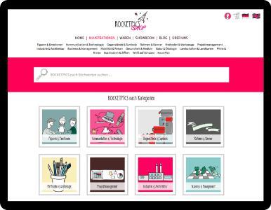 Der Shop für handgezeichnete Illustrationen: rocketpics.shop