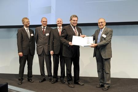 Preisverleihung Leibinger Team Coherent Bruker Quelle: Leibinger Stiftung