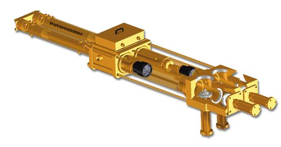 HSP double piston pumps (seat valves) for fine grained slurries, pastes and cakes