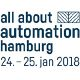 Logo of event all about automation hamburg 2018