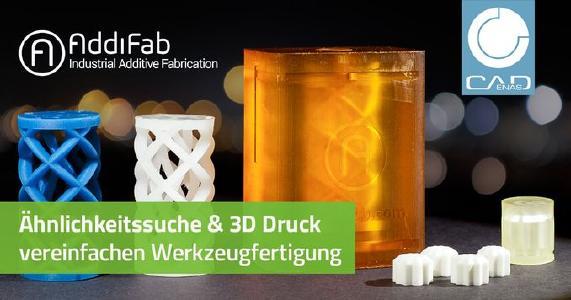 Beschleunigte Fertigung von Prototypenwerkzeugen durch CADENAS Ähnlichkeitssuche & AddiFab 3D Drucktechnologie