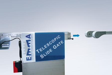 Teleskopierbarer Scharnierbandförderer
