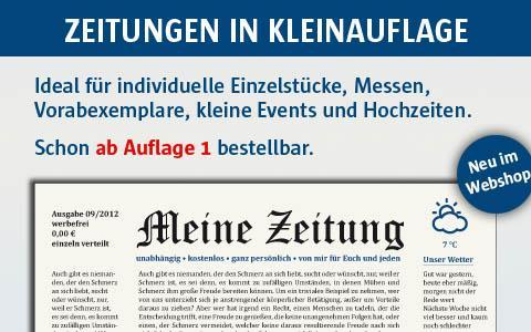Zeitungen in Kleinauflage