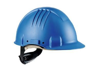 3M Hitzeschutzhelm G3501 blau: Der 3M Hitzeschutzhelm G3501 schützt vor Extremtemperaturen – 150° C Prüfung nach EN397