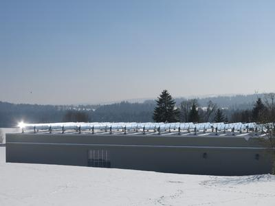 NEP Solar Collector Field at Emmi, Tete de Moine Cheese Factory, Switzerland