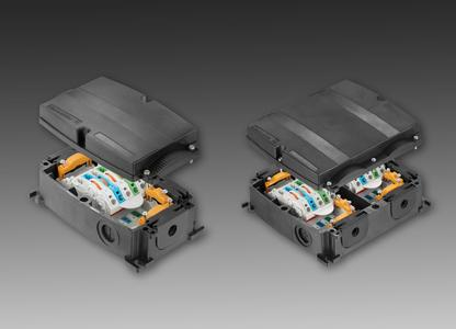 Weidmüller's FieldPower®: All in one ? die PowerBox® for universal application solutions for supplying power and twin T-output. (Left: PowerBox®, right: PowerBox® XL)