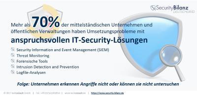 Häufig sind anspruchsvolle IT-Security-Lösungen bei Mittelstand und öffentlichen Verwaltungen nicht gut umgesetzt. Dadurch fehlen Möglichkeiten, Angriffe zu erkennen und zu untersuchen