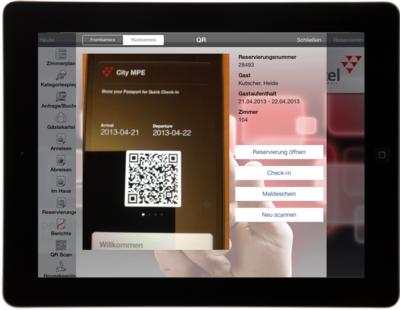 QR-Scan mit protel for iPad