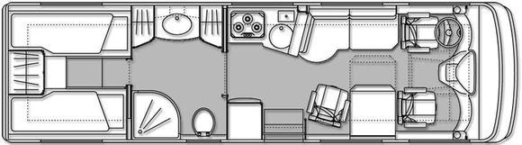 Grundriss VARIO Star 800 mit Heck - Einzelbetten