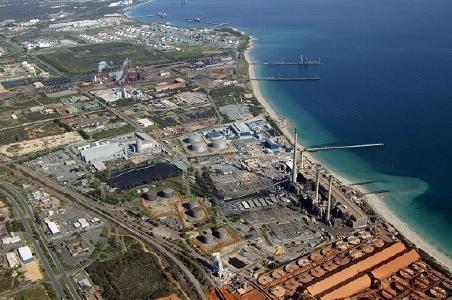 Das Industriegebiet Kwinana; Quelle: Kibaran Resources