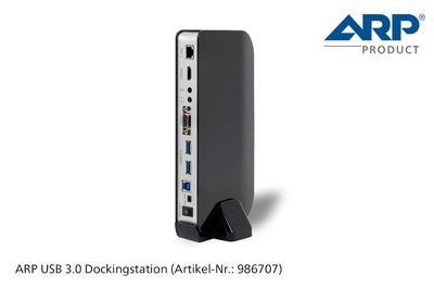 Die neue USB 3.0 Dockingstation von ARP: Aus einem Anschluss werden sieben