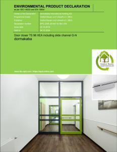 Umweltproduktdeklarationen für die Türschließergeneration TS 98 XEA