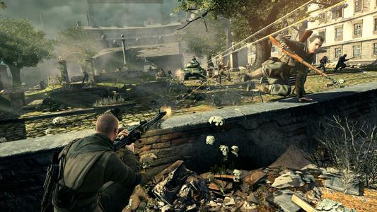 Sorgt für erstklassige Spannung und authentisches Spielerlebnis: Sniper Elite V2 (Screenshot)
