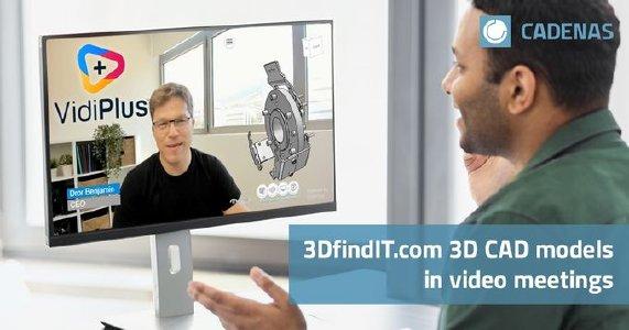 La nuova partnership tra VidiPlus & CADENAS integra i modelli CAD 3D interattivi nelle videoconferenze