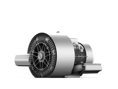 """Elektror präsentiert zur HMI 2013 die doppelstufige Seitenkanalverdichter-Baureihe """"2SD"""", Foto: Elektror airsystems gmbh"""