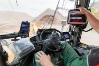Radladerkonsole XR4309: Verladung und digitale Lieferscheinerstellung ohne direkten Kontakt mit dem LKW-Fahrer.