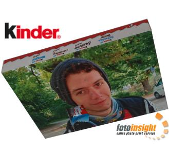 kinder® Photo Advent Calendars from £18.99 / €19.99, with chocolate surprises kinder chocolate®, kinder Country®, kinder Bueno® and kinder chocolate Bons® in sizes A4 and XXL in portrait or landscape format