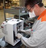 Produktions des serienreifen Gerätes.