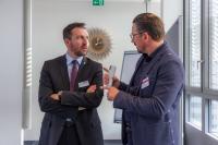 Robert Geppert und Markus Reischl auf dem Expertenforum Service Digitalisierung