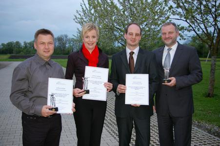 Die Auszeichnung für die Werke Coburg und Sindelfingen wurden an Susanne Dittrich, verantwortlich für das Betriebliche Vorschlagswesen (BVW) der Brose Gruppe, übergeben