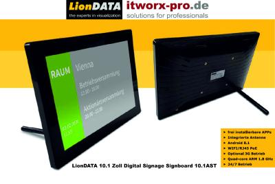 LionDATA 10.1 Zoll Digital Signage Signboard 10.1 AST