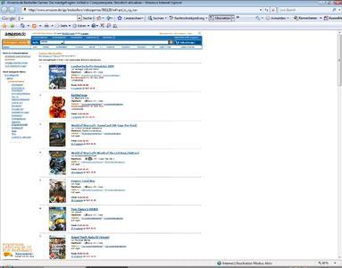 Amazon Charts alle Computerspiele 24 03 2009 09 30
