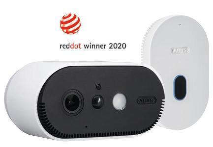 Die ABUS WLAN Akku Cam wurde für seine gute gestalterische Qualität mit dem Red Dot ausgezeichnet. © ABUS
