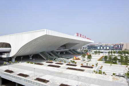 Shenzhen North Station is located in Shenzhen Bao'an District about 10 km from the downtown area of Shenzhen. Shenzhen Metro Line 7 connects the residential communities with urban commercial and business districts