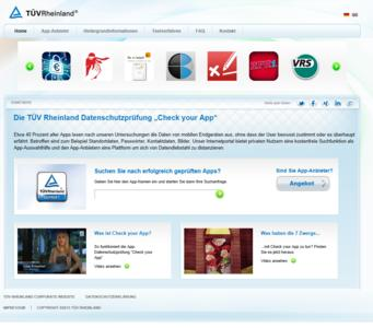 Internetseite Check your App