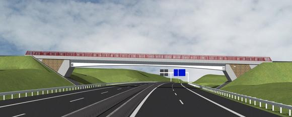 An der Bundesautobahn A44 wird derzeit eine feuerverzinkte Verbundbrücke als sogenanntes Demonstratorvorhaben erbaut / Weitere werden folgen