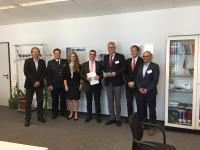 Von l.n.r: Rainer Schray, Alexander Kessel, --, Philipp Römer, Hendrik Pieper, Engelbert Werner, Hooman Safaie