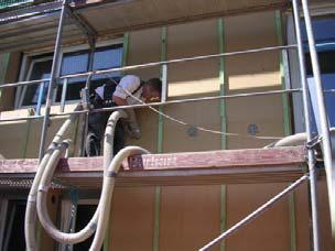 Fassadendämmung mit Zellulose Foto Zukunft Altbau