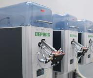 DEPRAG Hubschienenförderer für die abriebarme und bauteilschonende Zuführung der Schrauben