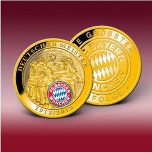 """Die Ehrenprägung """"Deutscher Meister 2013"""" – jetzt für nur 10,- € bestellen! Bild: Bayerisches Münzkontor"""