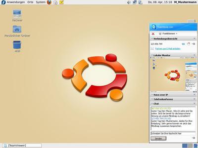 Screenshot TeamViewer Linux_Präsentation