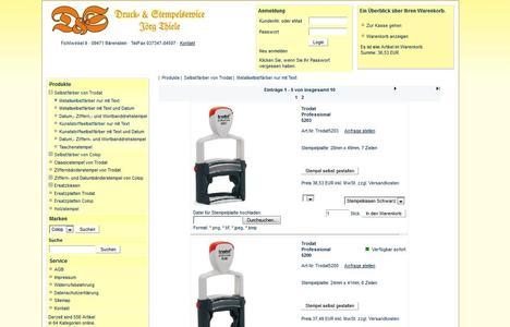 Onlineshop für Stempel