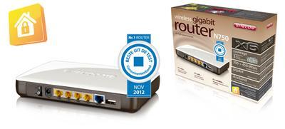 WLR-6000 Wireless Gigabit Router N750 X6