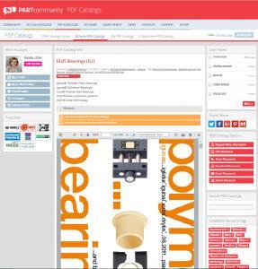 Ingenieure, die nun auf einen PDF Katalog klicken, können über einen integrierten PDF Reader sich das Dokument ansehen sowie dieses teilen, per E-Mail versenden oder herunterladen