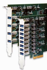 PLUG IN Electronic GmbH präsentiert ihre beiden aktuellen 4 8 Kanal USB3 0 Frame Grabber Karten UE 1004UE 1008 mit PCI Express