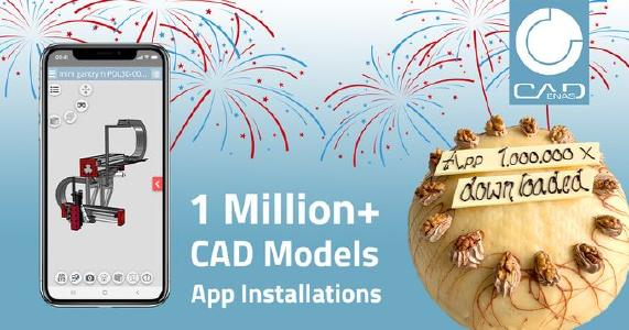 CAD Models Engineering App powered by CADENAS reaches over 1 million installations